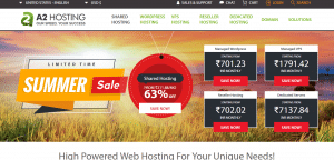 A2 hosting services, free registration of domain