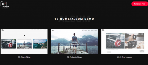 foto theme. photography website idea