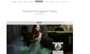 best photography website theme, kinetika theme