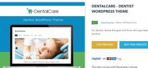 Dentist wordpress theme, dental care theme