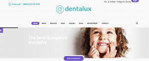 dentalux theme, wordpress theme