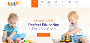 Kindergarten WordPress Themes, fable theme