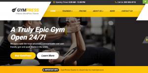Professional Health & Fitness WordPress themes, gympress theme