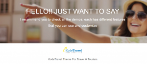 kode travel theme, travel agency website templates wordpress