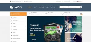 Gaming WordPress Themes, lazio theme