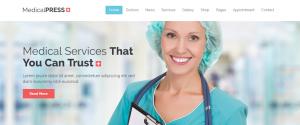 Dentist wordpress theme, medicalpress theme