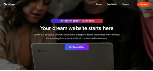 oshine theme, portfolio wordpress theme