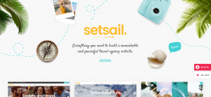 setsail theme, travel sites