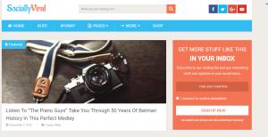 sociallyviral theme, Viral Magazine WordPress Themes