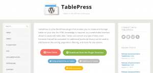 tablepress plugin, Digital Marketing WordPress Plugins