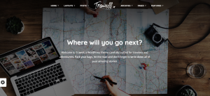 Trawell theme, wordpress travel theme