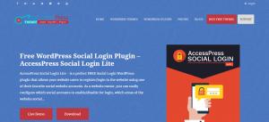 WordPress Social Login Plugins, accesspress plugin