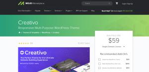 creativo theme, WordPress Photography Themes