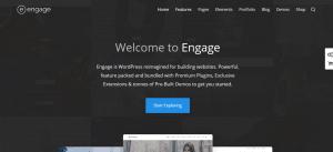 WordPress BuddyPress Themes, engage theme