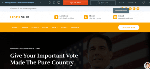 Leadership Political & Multipurpose theme, best free and paid theme