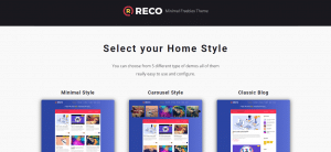 Reco theme, Selling WordPress Magazine Themes