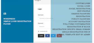 WordPress Simple Login Registration, best free and paid plugin